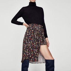 NWT Zara Floral Skort